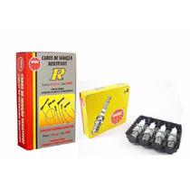 Kit Cabos + Velas De Ignição Ngk 206 Clio Kangoo 1.0 8v