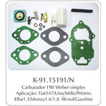 Kit Carburador Fiat 147/uno - Gm Monza Weber Completo