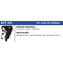 Kit Capa Correia Dentada Palio Weekend 1.6 16v 1996 À 2000