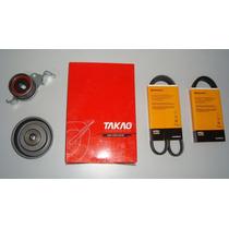 Kit Tensor+ Polia+ 3 Correias Mitsubishi Pajeiro Tr4 2.0 16v