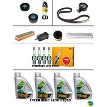 Kit Correia Dentada+poly V+filtros+velas+óleo 206 207 C3 1.4