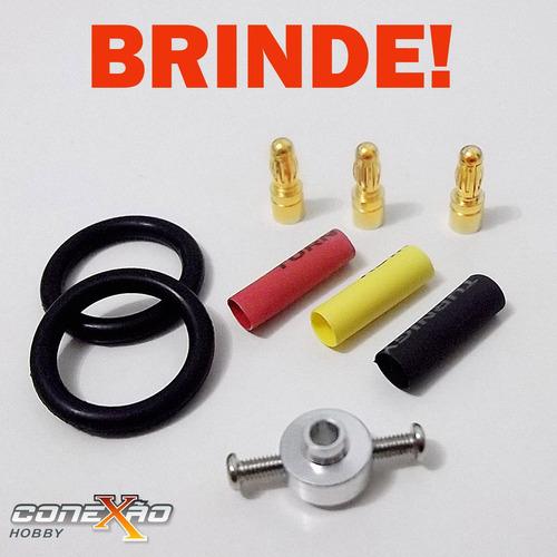 Motor Elétrico Brushless E-max 2822 1200kv Completo + Brinde
