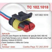 Conector (chicote) Bobina Ignição Uno/palio/tempra Tc1018