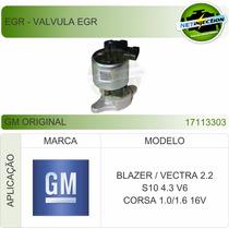 Válvula Egr Blazer Vectra 2.2 S10 4.3 Corsa 1.0/1.6 17113303