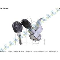 Maçaneta Externo Tampa Motor Cromada Brasilia - Universal
