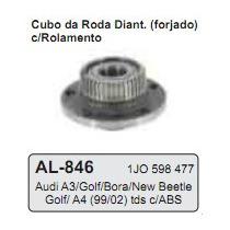 Cubo Roda Traseira C/ Rolamento Bora/ New Beetle/ Golf A4