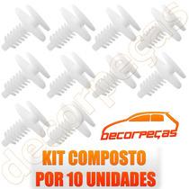 Kit Grampo Revestimento Forro Porta Tempra 92 - 99 10 Peças