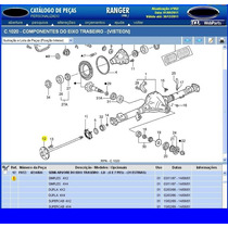 Semi Eixo E Kit Satelites Do Diferencial Ranger 31 Estrias