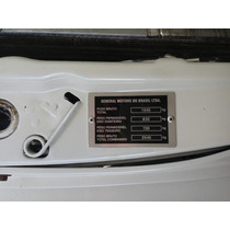 Plaqueta De Identificaçao Do Motor Do Kadett Gsi Conversivel
