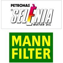 Kit Troca Óleo Fiat Fire Selenia K 15w40 Sm 3l+ Filtro Mann