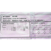 Junta Cabecote Fiat Tempra/tipo 2.0 8/16v - Alcool/gasolina