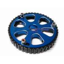 Polia Regulavel Aluminio Azul Para Motor Ap