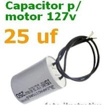 Capacitor 25mf X127 Vts Motores Portões, Outros