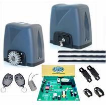 Kit Motor Rossi Portão Eletrônico Deslizante,