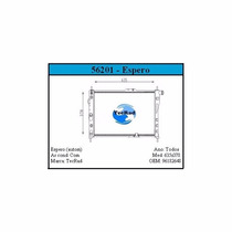 Radiador Daewoo Espero 1.8/2.0 Automático