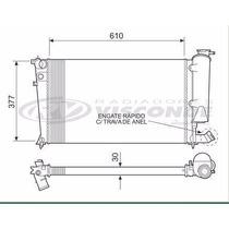 12752 Radiador De Agua 306 1.8 99/00 C Engate Rapido / Xsara