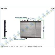 Radiador Peugeot 206 207 1.0 1.6 16v 1.4 8v 03 Citroen C3
