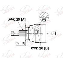 Homocinética Fiat Stilo Abarth 2.4 25x26