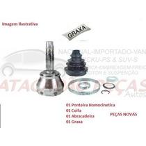Ponteira Homocinetica Roda Peugeot 206 1.0 Apos 02 S/trava