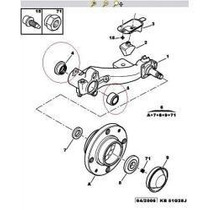 Kit Original Rolamento Do Eixo Traseiro Peugeot 206 1.4 1.6
