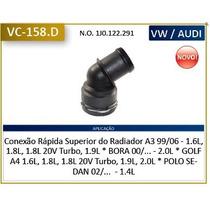 Flange Conexao Mangueira Superior Radiador A3 / Golf / Bora