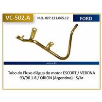 Tubo Fluxo Agua Escort, Verona 1.8 93-96 Alc-gas Com Ar