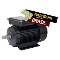 Motor Eletrico Fechado Ip44 1/2cv 2 Polos Monofasico Bivolt