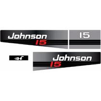 Adesivo Motor De Popa Johnson 15 Hp