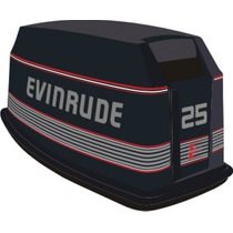 Adesivo Motor De Popa Evinrude 25 Hp 89/92