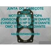 Junta Do Cabeçote Motor De Popa Evinrude 15 Hp Mod Frete Gra