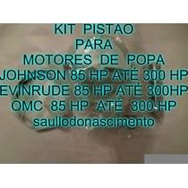 Kit Pistão Motor De Popa Johnson Evinrude Omc 85 Hp Até 300