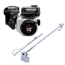 Motor Barco 7hp Bote 4t Toyama Popa + Rabeta Std 1,7m + Kit!