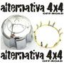 Calota + Aranha Trava Roda Pajero / L200 - Com Logo Original