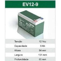 Bateria 12v Bandeirante Super Moto Elétrica Gt2 Turbo Citrus
