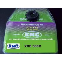 Kit Relação Xre300 Honda Completa Aço 1045 ( Gold )