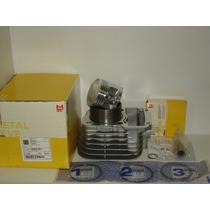 Kit Cilindro Pistao E Aneis Cg125 1976/1991 Metal Leve