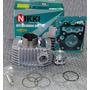 Kit Cilindro Motor Completo Biz 125 11/12 Injeção ( Nikki )
