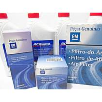 Kit Troca Oleo+filtros Ar Oleo Combustivel Celta Original Gm