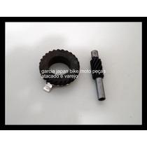 Engrenagem Mais Pinhao Velocimetro Ybr 125 Material Em Ferro