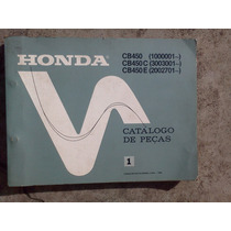 Catalogo De Peças Da Cb 450 Original Honda