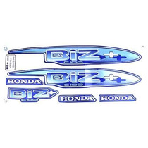 Kit Jogo Adesivo Moto Honda Biz100+ 2002 Azul