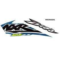 Kit Jogo Adesivo Moto Honda Nxr125 Es 2004 Branca