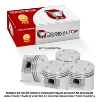 Jogo Pistao Motor C/anel Std Gol Parati 1.0 16v Ea 111 Gas
