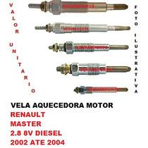 Vela Aquecedora Renault Master 2.8 8v Diesel 2002 Ate 2004