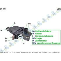 Regulador De Voltagem Renault Clio Ii 99/07 14v - Gauss