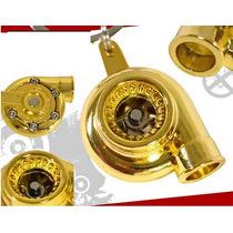 Chaveiro Turbo Turbina Ouro, Cromado Tuning Dourado Hélice