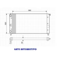 Radiador Uno / Fiorino / Premio 1.0/1.5 96...s/ar- Rv12532