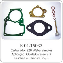 Kit Carburador Gm Opala/caravan 4cil Weber