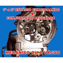 Carburador 3e Opala 6 Cil - De 01/92 Á 04/92 Álcool Brosol
