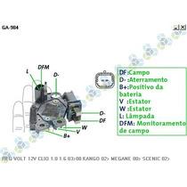 Regulador Voltagem Renault Clio 1.0 16v 01/...- Gauss